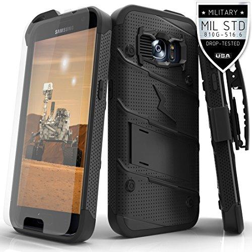 Samsung Galaxy S7 Case, Zizo [Bolt Series] w/ [Galaxy S7 Screen Protector] Kickstand [12 ft. Military Grade Drop Tested] Holster Clip - Galaxy S7 G930