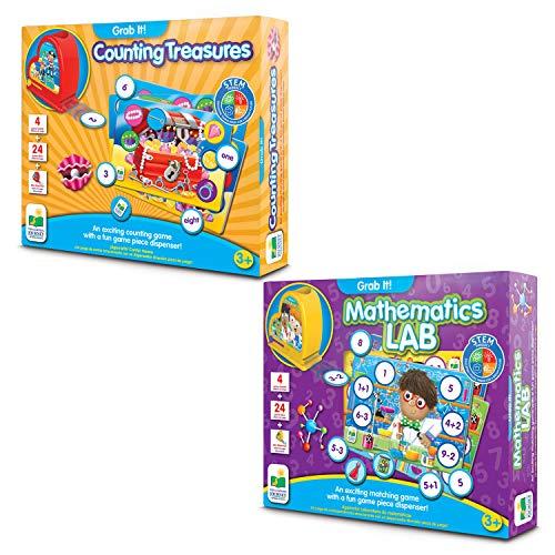 Learning Journey International LLC Grab It! Mathematics Lab & Grab It! Counting Treasures Bundle