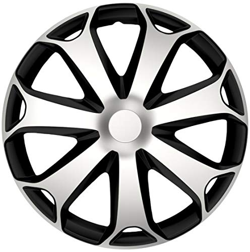 Gorecki - radkappe Mega 15 Zoll ABS silber/schwarz - Silber,Schwarz