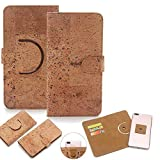 K-S-Trade 360° Cover Cork Case Compatible With Siswoo C55