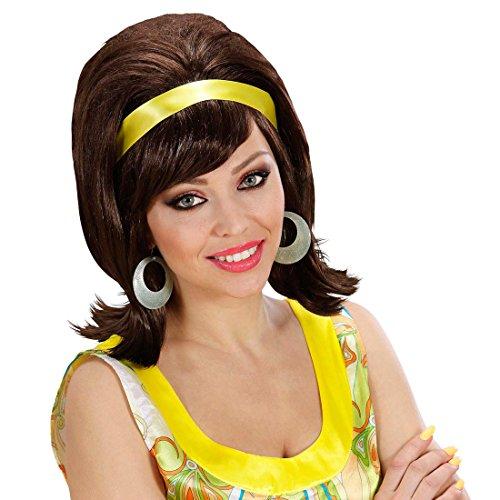 Amakando Perruque de Soirée Années 60 Rétro Cool Fifties Rockabilly Faux Cheveux Années 50 Soirée à Thème Fête Accessoire Déguisement Carnaval