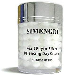 Simengdi Phyto Silver Ginseng Gel - Balancing Pearl Day Cream for Face - Bio Silver Anti Aging And Wrinkle Reduce Cream With Natural Chinese Herbs and Pearl Powder 2 Ounce