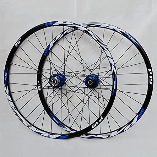 Juego De Ruedas De Bicicleta De Montaña De 26/27,5/29 Pulgadas, Llanta MTB De Aleación De Aluminio De Doble Pared, Freno De Disco De Liberación Rápida 32H 7-11 V