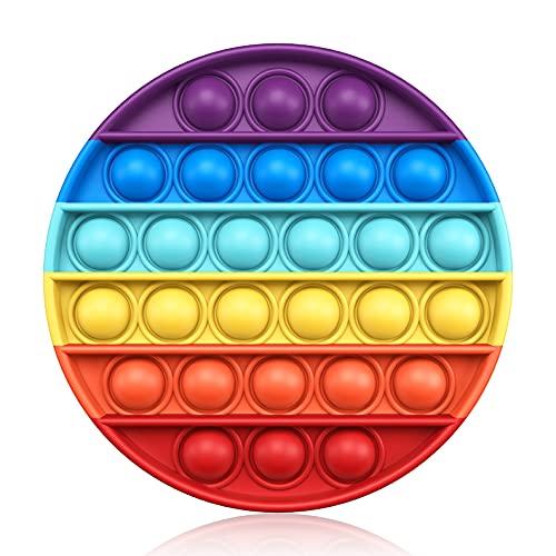 Push Pop Bubble Fidget Sensory Toy Silicone Stress Reliever Push Fidget Pop Toy Squeeze Sensory Toy...