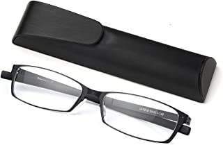 Anti Blue Light Straight Thin Stamped Metal Frame Reading Glasses Readers +1.5