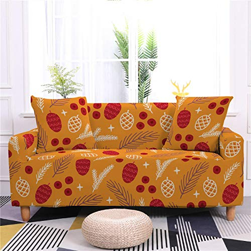 Universal Sofa Cover Spandex Stretch Couch Slipcover Red Strawberry Pattern Tight Fitted Armchair Loveseat Settee Cover 1/2/3/4 Seater Sofa Protector,3,seater 190,230cm