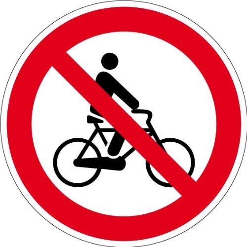Verbotszeichen - Fahrradfahren verboten - Aluminium - Ø 30 cm