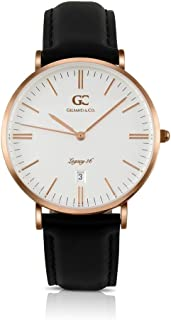 Gelfand & Co. Unisex Minimalist Watch Black Leather Chelsea 36mm Silver with White Dial