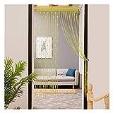Eastery 1 Stück 50X200Cm Love Liebe Herz String Fenster Vorhang Tür Einfacher Stil Teiler Sheer Vorhänge Valance Gardine (50Cmx200Cm Beige) (Color : Gelb, Size : 50X200Cm)