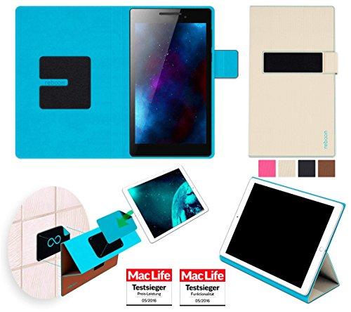 Hülle für Lenovo Tab 2 A7-10 Tasche Cover Case Bumper | in Beige | Testsieger