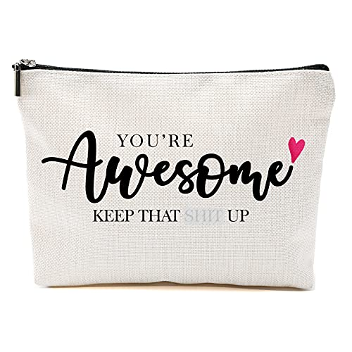 Fun Inspirational Gifts for Women,Fun Birthday Gifts for Women,Unique Novelty Holiday Christmas Hanukkah Gift for Women-Makeup Travel Case,Retirement gift, anniversary gift, commemorative gift