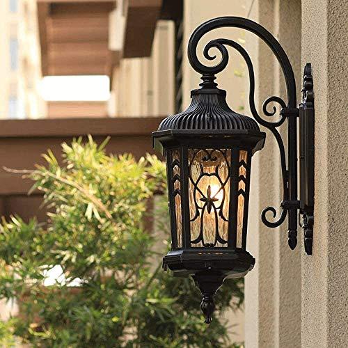 Lámpara de pared resistente Lámpara de pared exterior LED Continental iluminación exterior for el jardín exterior Camino de entrada de luz de emergencia aplique accesorios de iluminación adecuados for