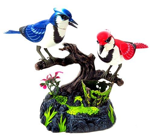 PowerTRC Baltimore Blue Jay Set   Realistic Birds   Toy Bird Pets   Sound Activated