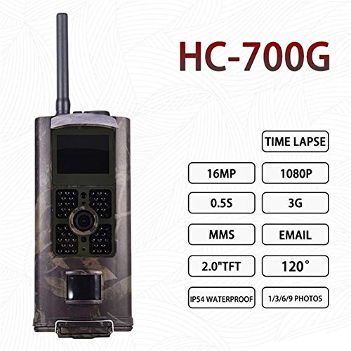 WANGMEILING Jagdkamera wildkamera HC300M HT001B HC801A HC801LTE 4G-Jagd-Kamera 12MP 940nm Nachtsicht MMS GPRS Foto Traps Trail Kamera Dropship (Color : 700G US Plug)