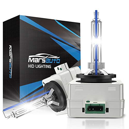 Marsauto D3S HID Bulb 6000K Xenon HID Replacement Bulb Diamond White with Gloves 35W for 12V Cars High Low Beam 2Pack