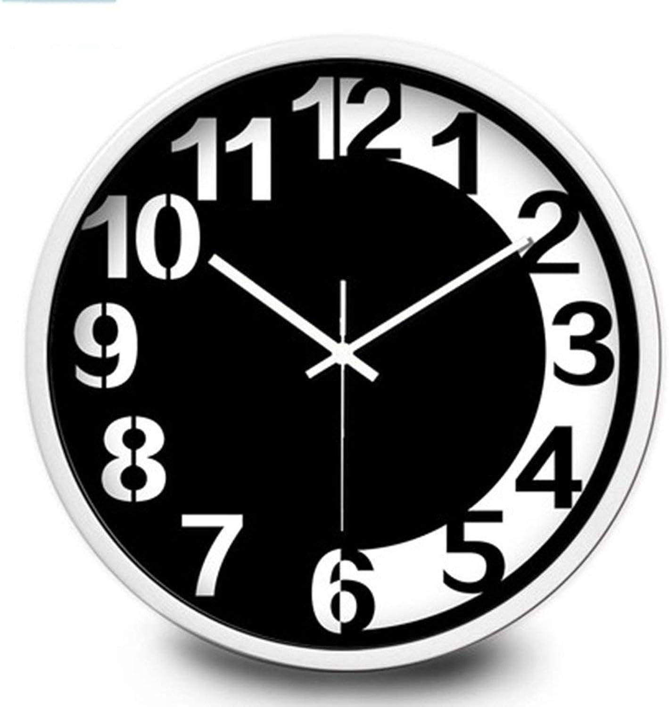 auténtico YNMB YNMB YNMB KS Sala de Estar con Dormitorio Salón del Reloj de Cuarzo Reloj electrónico en casa Mute Simple Moda Reloj de Parojo blancoo y Negro Creativa (Color   blancoo, Talla   M)  promociones de descuento