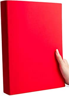 $60 » Notebook, Thick (220X290Mm, 200 Pages, 3 Pieces Set), Soft Leather   Red (3 Pieces) Horizontal Line