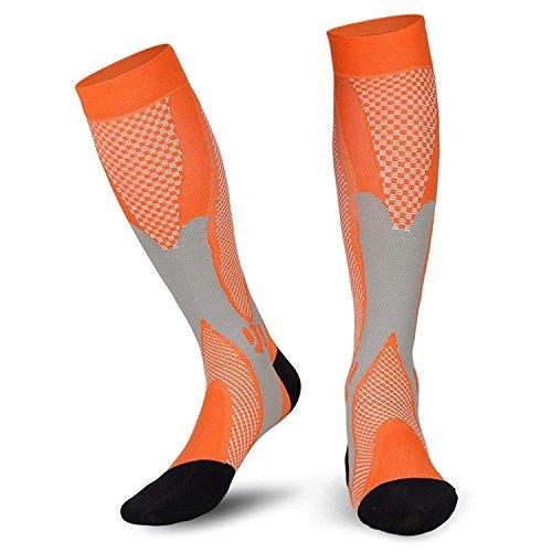 salefun Kompressionsstrümpfe Stützstrümpfe für Damen & Herren, Stützkniestrümpfe Kompression für Flug, Reise, Büro und Auto, Thrombose Socken gegen geschwollene Beine