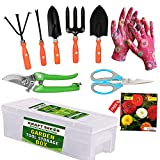 Color: Colourful & Designing Package Contents:1. Small Trowel 2. Big Trowel 3. Cultivator 4. Fork 5. Iweeder 6. Tools Storage Box 7. Gardening Cut Tool 8. One Pair Hand Gloves 9. One Seeds Packet Full set of gardening tools complete gardening tools c...