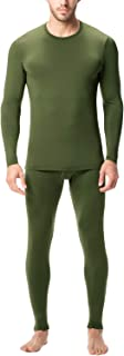 LAPASA Men's Thermal Underwear Long John Set Fleece Lined Base Layer Top and Bottom M11