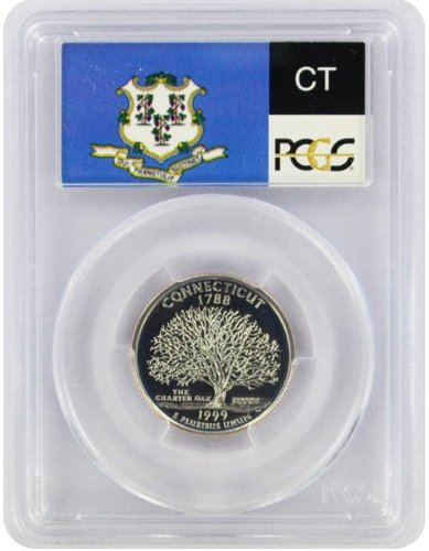 1999 Connecticut State S Clad Proof Quarter PR-69 PCGS