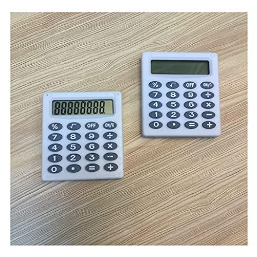 LEGU calculadoras Calculadora Electronic Desktop Calculator LCD Pantalla Mini Office Calculadora Liviana para Los Niños De Oficina Calculadoras Básicas (Color : White, tamaño : 2pcs)