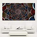 N / A Print Color Circle Abstract Painting Print Poster Canvas Painting Mural Living Room Home Decoration Frameless 50X100CM