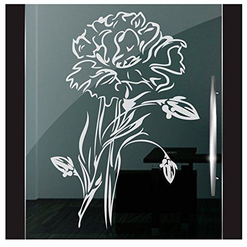 DD Dotzler Design 2111-11 Milchglasfolie Fenster Folie Milchglas Motiv Rose Blume Floral Blumen Glas Fensterfolie