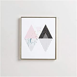 triangle painting on wall