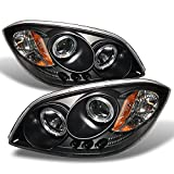 For Cobalt Pontiac G5 Pursuit Black Halo Ring LED Projector Replacement Headlights Driver/Passenger Lamp