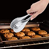 Pinza da cucina in argento con morsetto antiscivolo, pinza da cucina, torta di pane per insalata per uso domestico all'aperto