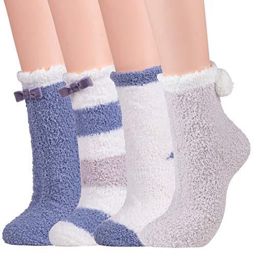 2 Donna letto Soffice Caldo Coosy sera Lounge calzini calze pantofola