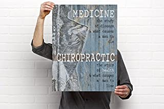 The Study of Health Chiropractic Artwork - 18'x24' Vinyl Poster, Chiropractic Art and Clinic Decor by Clinic Artwork