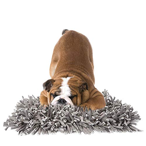 YAMI Schnüffelteppich für Hunde Schnüffelrasen Hund Schadstofffreies Hundespielzeug Fördert Natürliche Nahrungssuche (30 x 45cm)