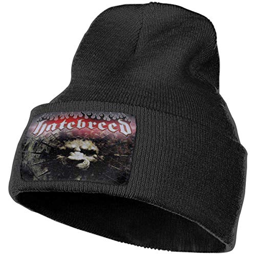 Lsjuee Hatebreed for The Lions Winter Beanie Knit Sombreros para hombres y mujeres Negro
