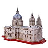 World Brands-St Pauls Cathedral, National Geographic, Cubic Fun, Rompecabezas, maquetas para Montar, Puzzles 3D, Kit de construcción DS0991H