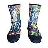 Dfghbn Calcetines De Buceo Calcetines de Neopreno de 5mm Beach Botines Zapatos pegados a ciegas Cosido Antideslizante Traje de Neopreno Botas Calcetines Aleta de natación (Color : A, Size : 43)