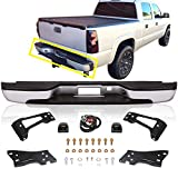 Perfit Liner New Replacement Parts Rear Silver Step Bumper Assembly Compatible With CHEVROLET/GMC SIlverado Sierra Pickup Truck 1500 2500 3500 HD Fits GM1103124 88944059-PFM