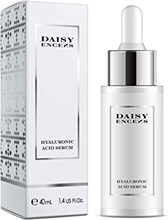 DAISY ENCENS Hyaluronic Acid Serum For Face - Anti Aging Anti Wrinkle Serum Hyaluronic Acid Best Natural Skin Care to Plump, Hydrate + Diminish Lines + Wrinkles 1.4 fl oz.