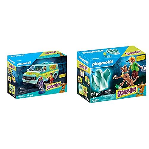 Playmobil Scooby-Doo! 70286 Mystery Machine & Scooby-Doo! 70287 Scooby E Shaggy, Dai 5 Anni