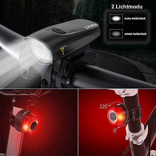 StVZO Approved IPX5 Waterproof Deilin LED Bicycle Rear Light Schwarz
