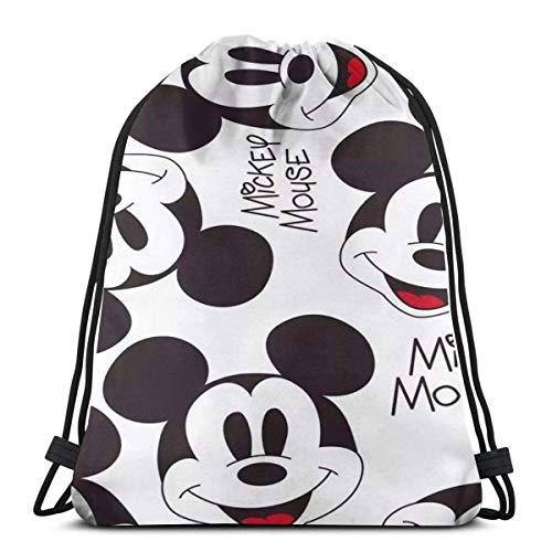 LREFON Micky And Minnie Kiss Classic Drawstring Bag Gym Backpack Man Women Sport Storage Shoulder Bag