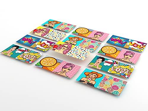 Tink Adhesivo para azulejos con imágenes | Azulejos adhesivos para cocina y baño para suelos, escaleras y superficies de madera | Grosor óptimo de lámina de 0,5 mm (ModeArt, 10 x 20 cm // 12 unidades)
