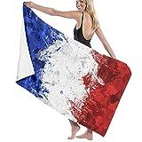 BGDFN Farbtropfende bunte Spritzer Paris-Flagge, weiches Bad-Zubehör, Pool-Handtuch, Strandtuch & Fitnessstudio-Handtuch