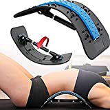 Vulness Back Stretcher for Lower Back Pain Relief | Fully Adjustable Lumbar Support for Sciatica Scoliosis and Herniated Disc | Improves Posture and Flexibility Spinal Decompression Acupressure Point