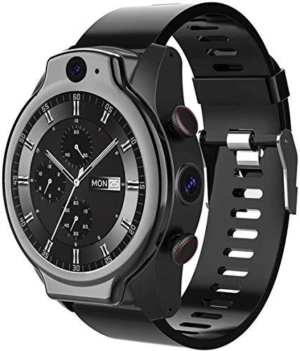 Reloj Inteligente 4G IP68 50 M Impermeable Pulsera Inteligente 1.69 Pantalla Redonda Completa 4G+64G 13MP+8MP Cámara Dual 1600Mah Múltiples Modos Deportivos