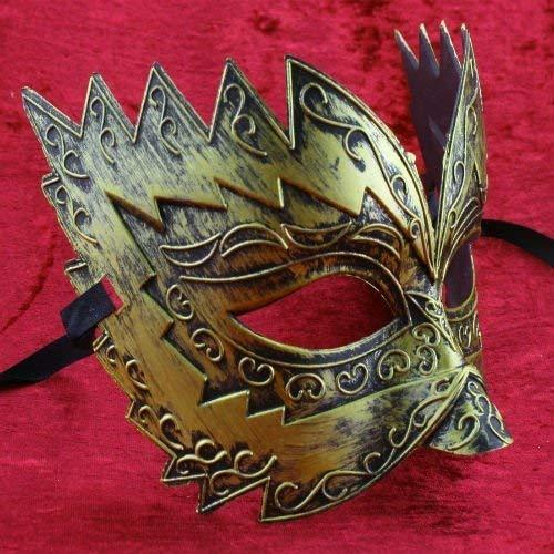 The Rubber Plantation TM 619219304047 Gold Titan - Disfraz de máscara veneciana para hombre (talla única)