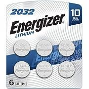 Energizer 2032BP-6 Energizer Lithium 2032 Battery, 6 Count, 0.02 kg
