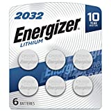 Contains 6 Energizer 2032 Lithium 3-Volt Coin Batteries Delivers long lasting, dependable performance in specialty devices like heart rate monitors, remotes, keyless entry systems, glucose monitors, toys, and games Holds power for up to 10 years in s...