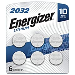 Contains six 6 Energizer 2032 Lithium Coin Batteries Delivers long lasting, dependable performance in specialty devices like heart rate monitors, remotes, keyless entry systems, glucose monitors, toys, and games Holds power for up to 10 years in stor...